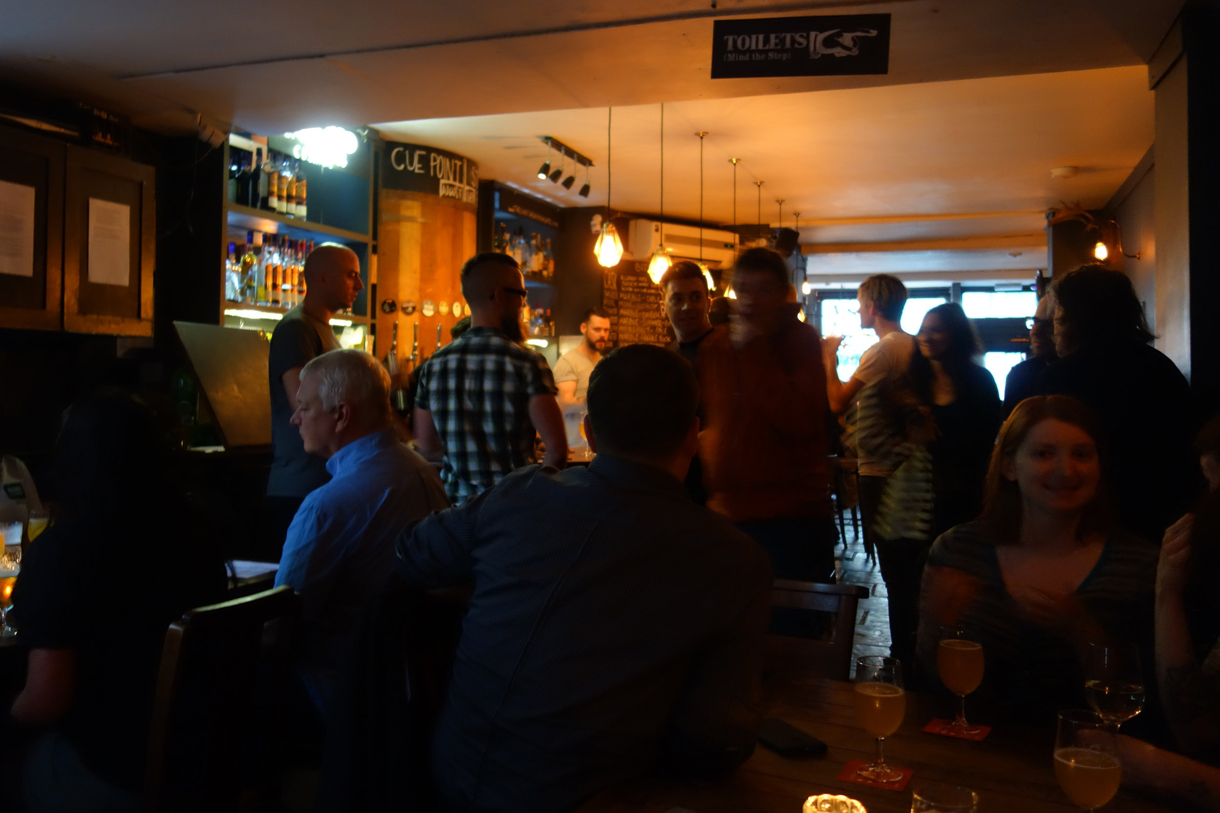 A packed corner of The Duke's Head in Highgate, where Marble Brewery was showcased.