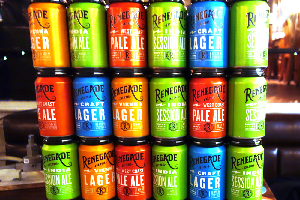 Renegade Brewery Cans