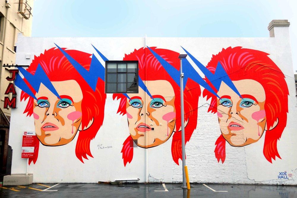 David Bowie Mural Wellington
