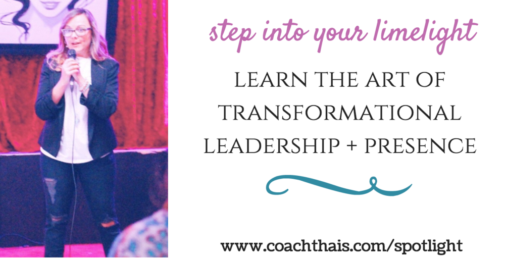 SPOTLIGHT, the women's transformational leadership and presence training