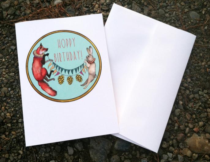 Hoppy Birthday Card Polanshek Of The Hills