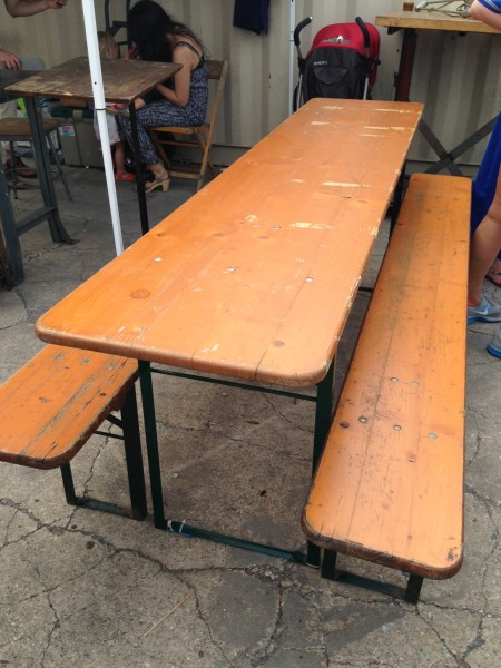 Vintage Bleacher Table
