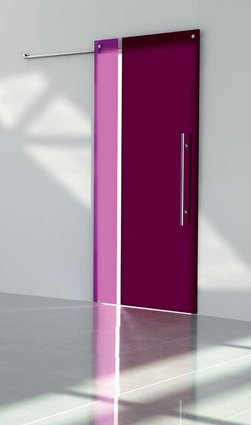 Bi-Colored Glass Sliding Door