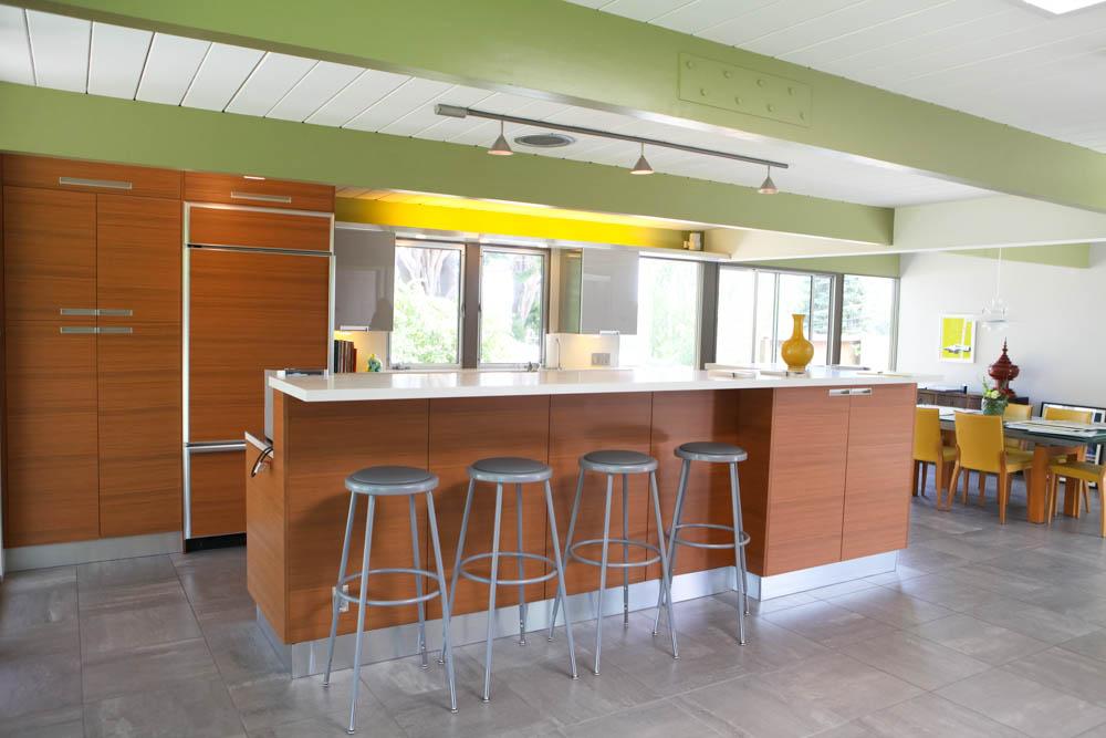 San Mateo Eichler modern kitchen