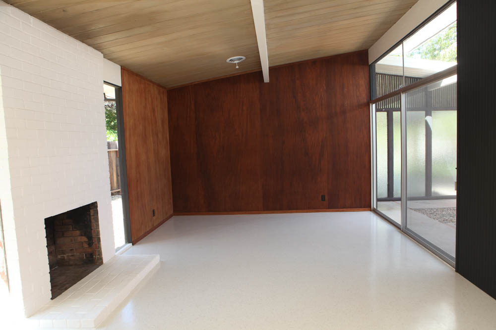 Eichler Living Room Restoration