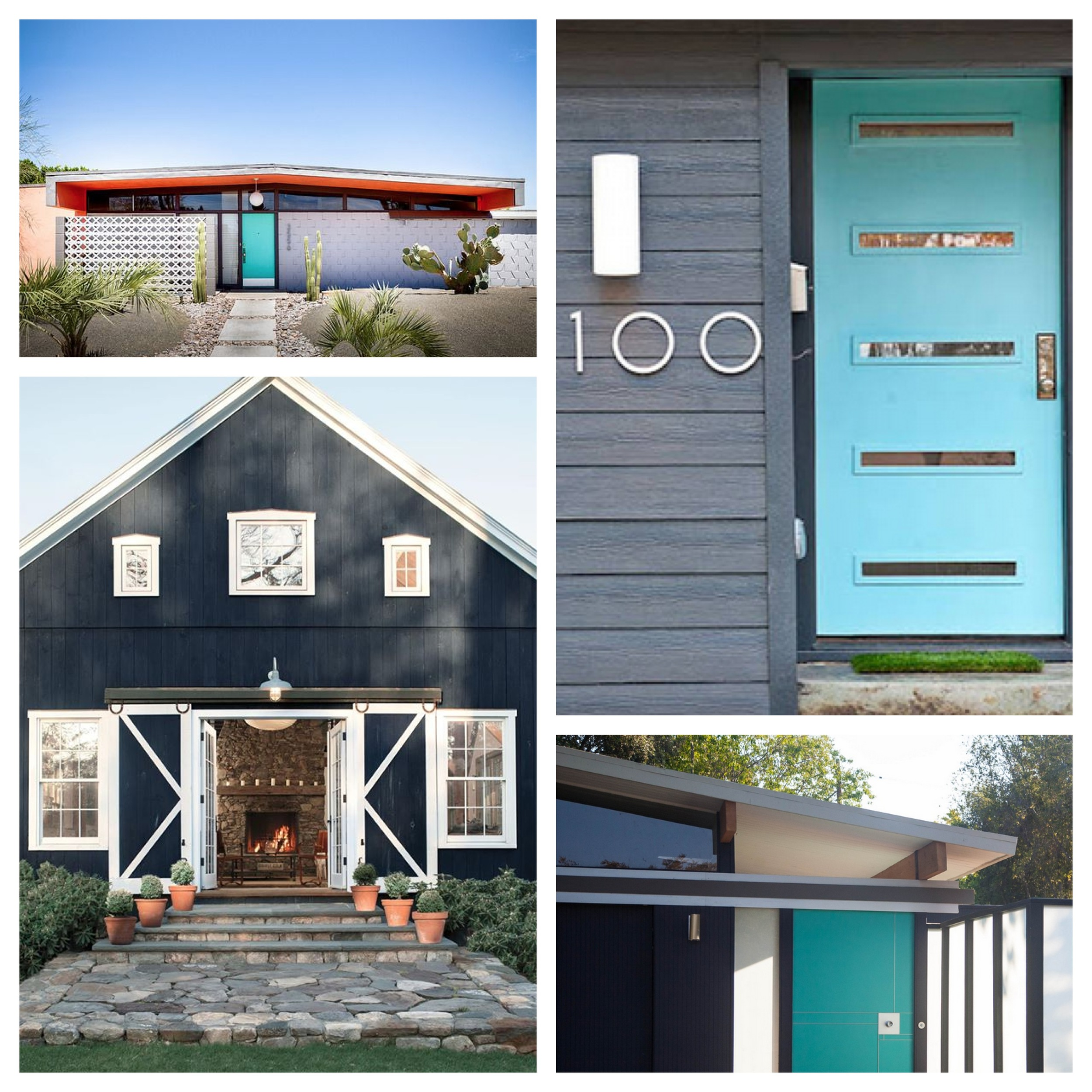 Navy and Turquoise Exterior Inspiration