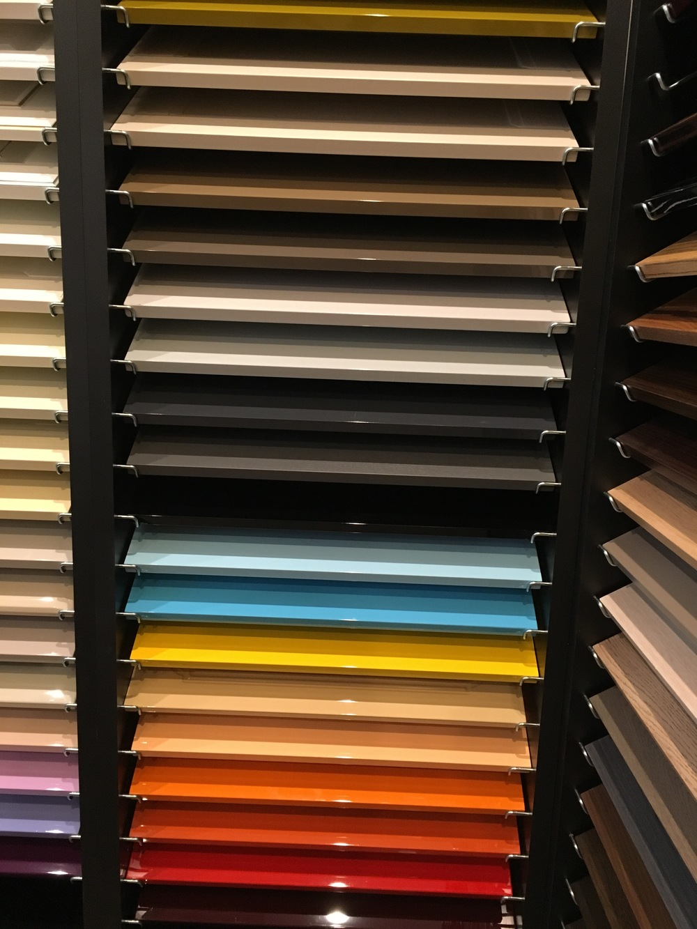 Rainbow of Lacquer Doors