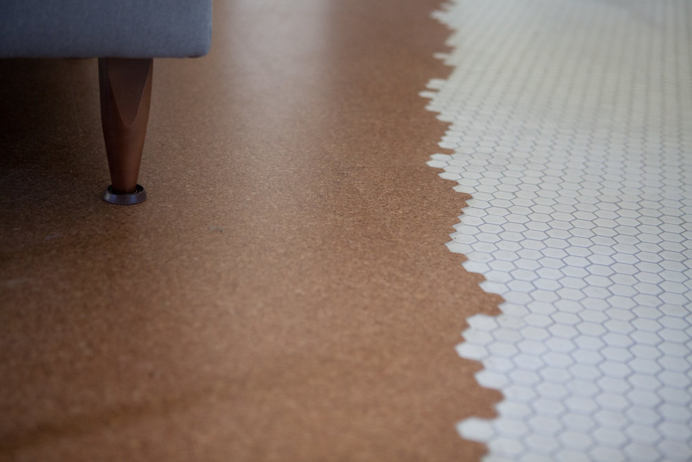 New Cork Flooring is soft on the feet and easy to maintain, plus an eco-friendly material.