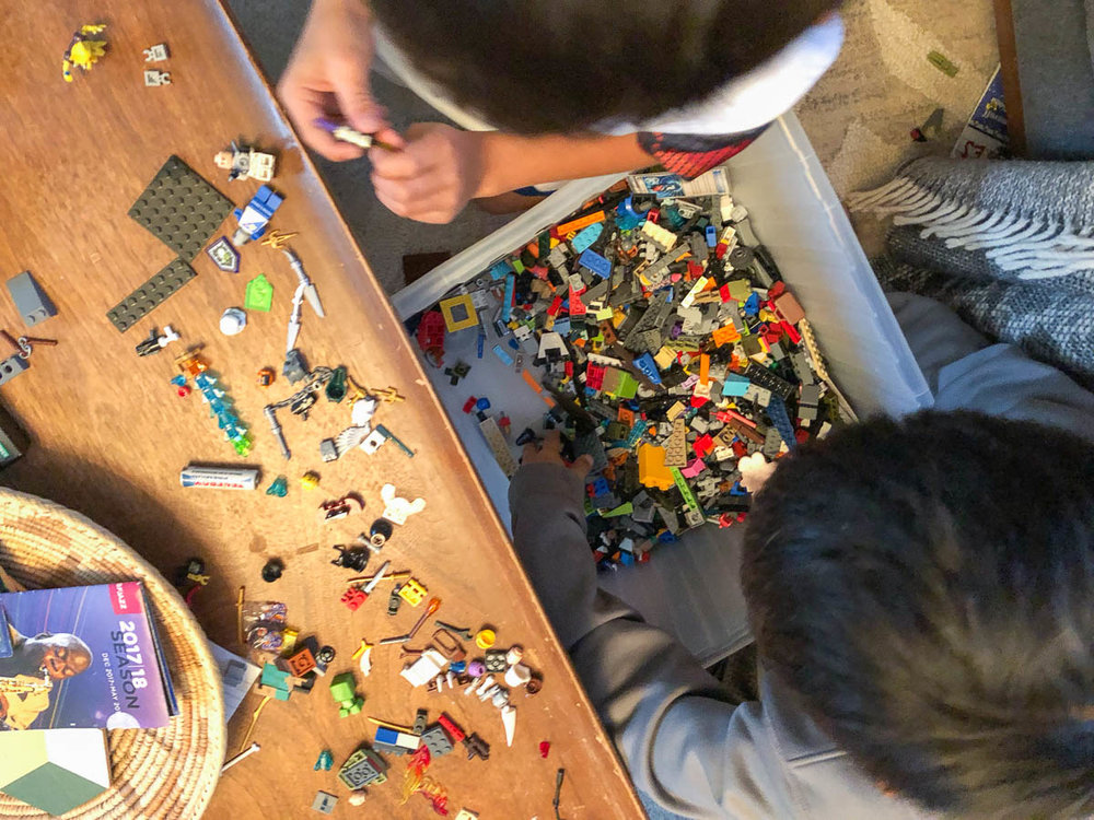 Time to get the kids busy building a LEGO form.