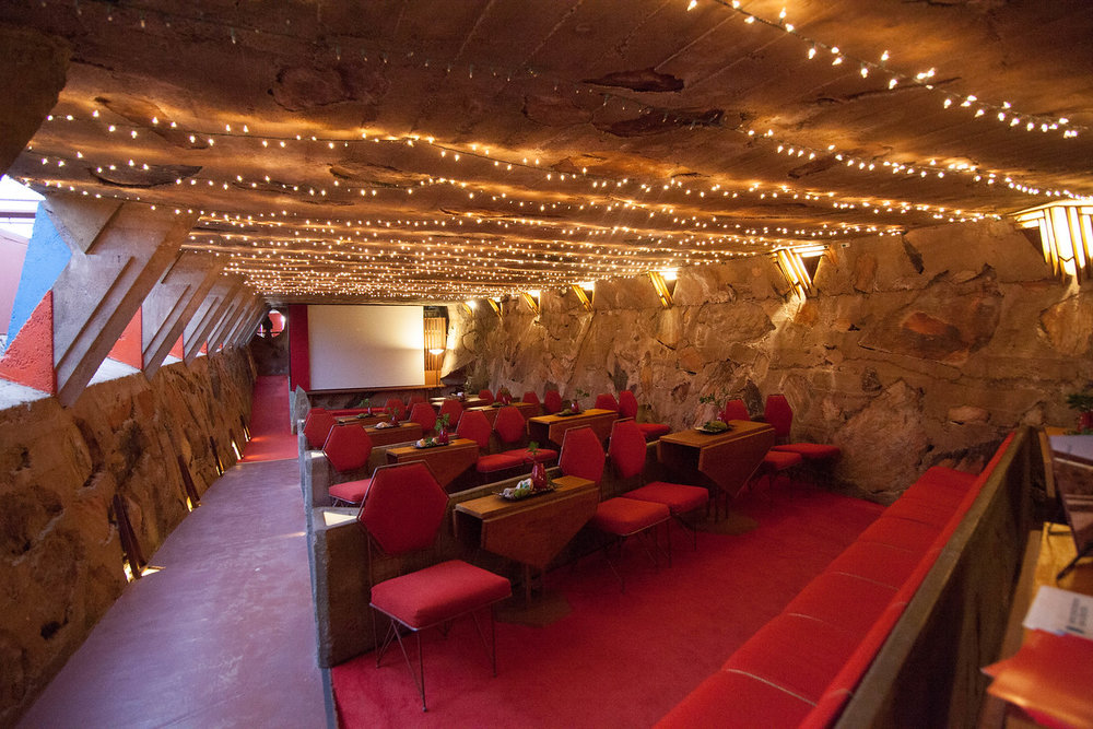 Talesin West Caberet Theater. I loved seeing the triangle and hexagon shaped inspiration throughout the spaces. My favorite shapesto incorporate into designs!