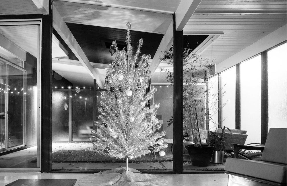 Our Vintage Aluminum Christmas Tree Mid Century Modern Interior