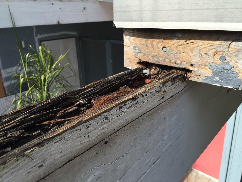 Repairing beams.
