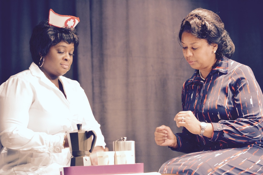 PHOTO BY: CAZ MCKINNON   (L to R) NICHOLE THOMPSON-ADAMS AS SUSAN AND THURSDAY FARRAR AS VERA