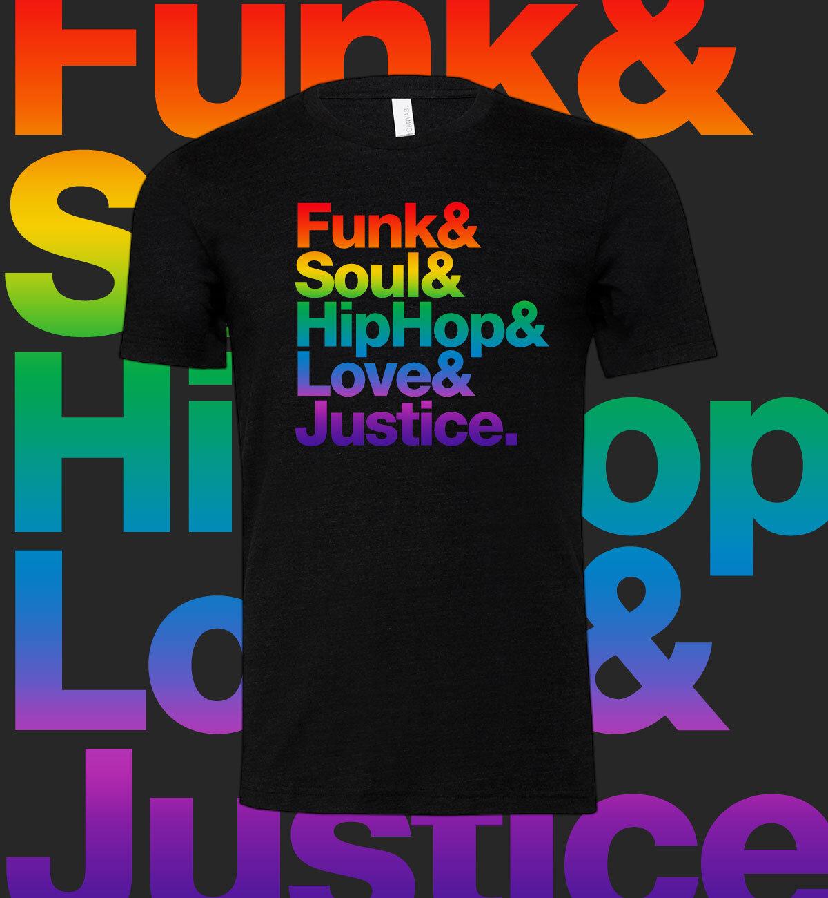 danielle ponder funk soul hip hop love justice tee pride edition hide the bodies