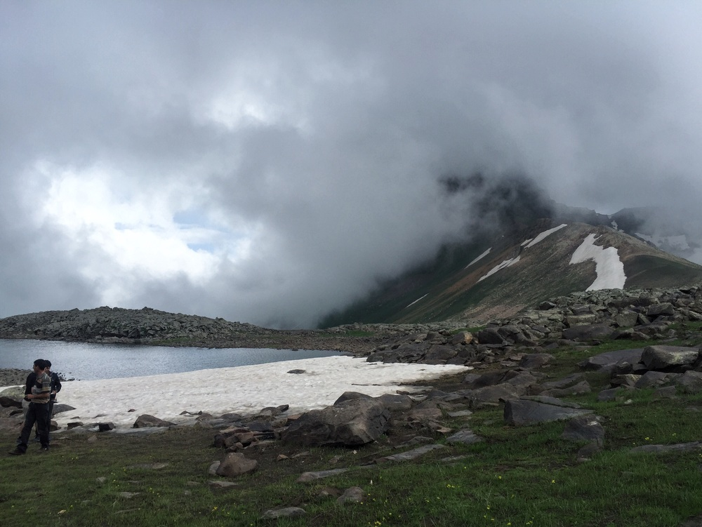 Our first stop at the glacier lake