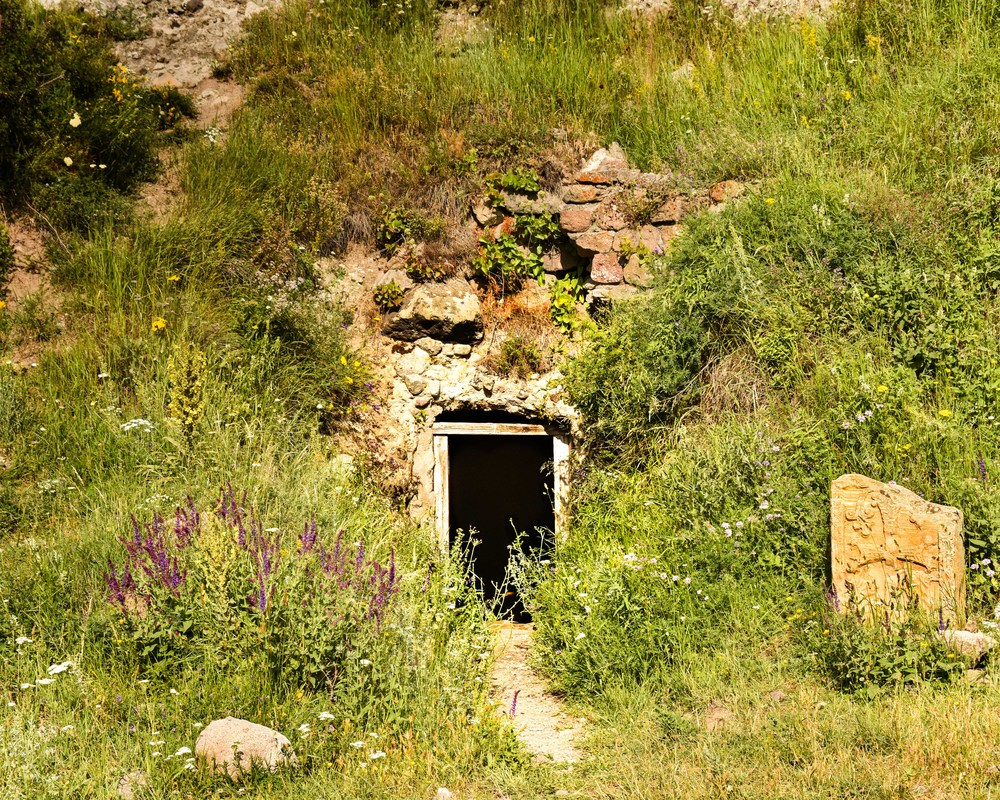 Entrance to the cave church