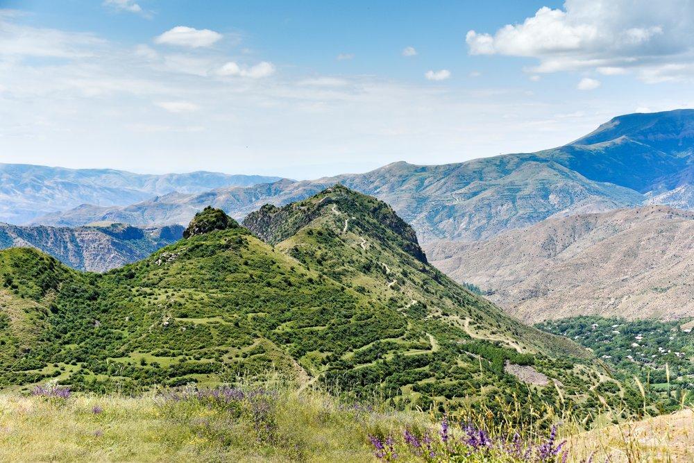 The Road to Smbataberd from Tsakhats Kar Monastery