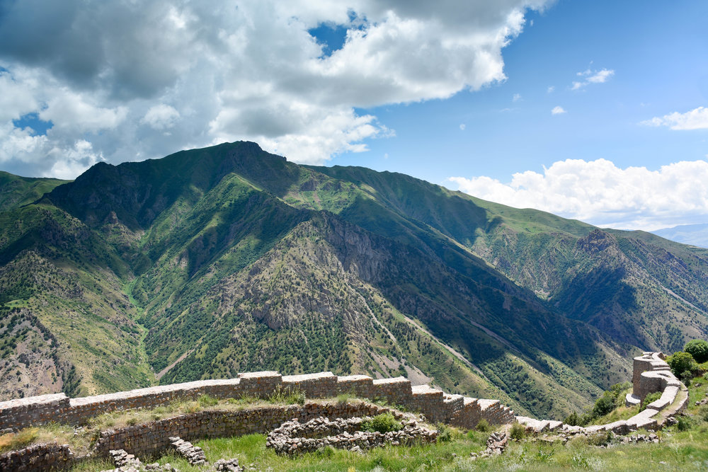 The mountains and the fortress, which have sheltered the indigenous Armenian people since ancient times
