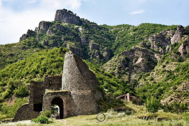 The ruined watchtower of Akhtala, part of the fortress that is more than 1000 years old