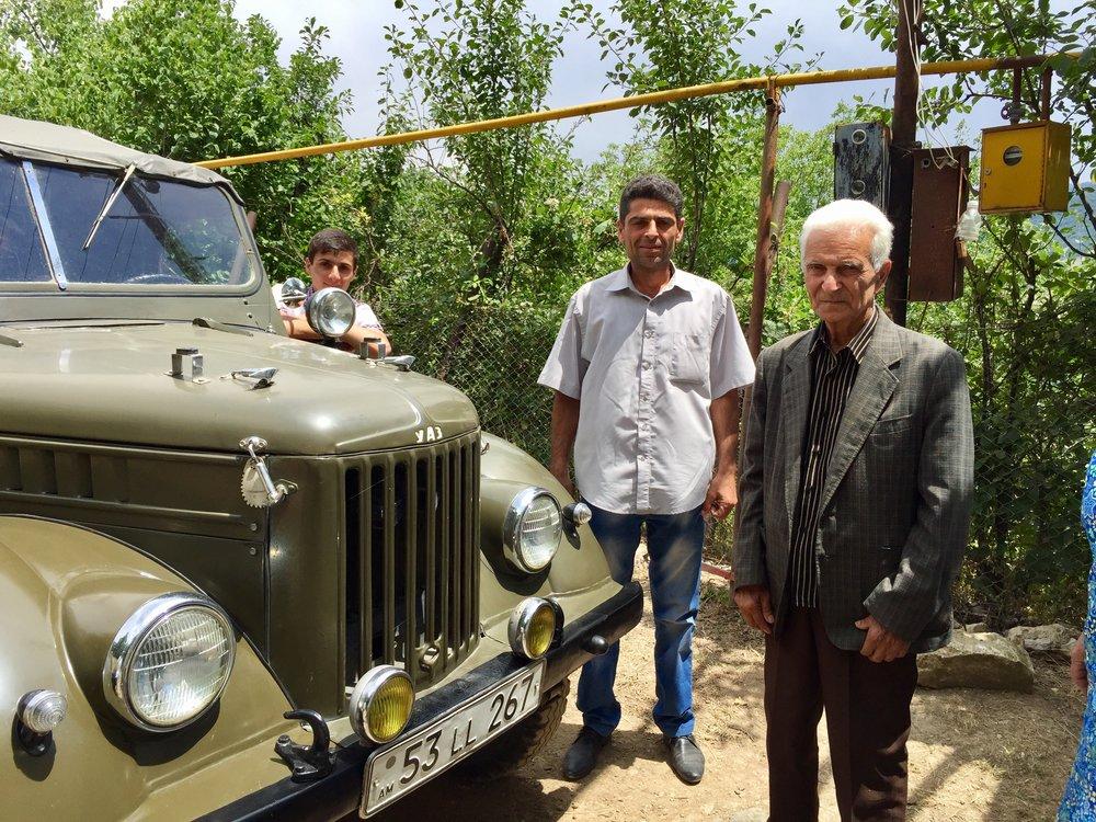 Vintage Jeep, Artur, Pavel and Paron Sargsyan