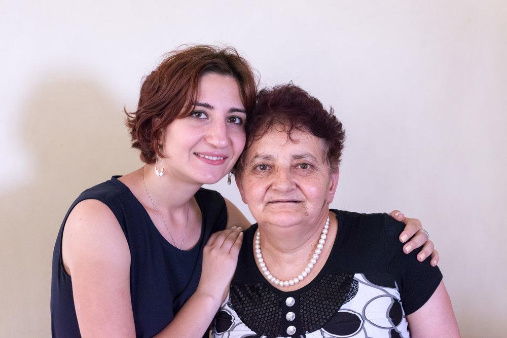 """Margarita Khamoyan, Teach For Armenia Fellow, with her """"second Mom"""" and Choratan neighbor"""