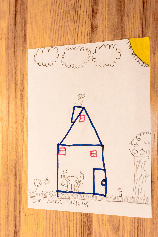 Drawing of a house by Tarann Sanders
