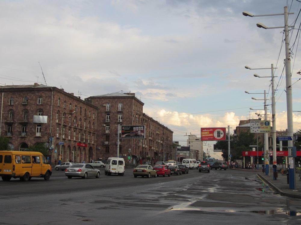 Buses and marshrutkas in Yerevan