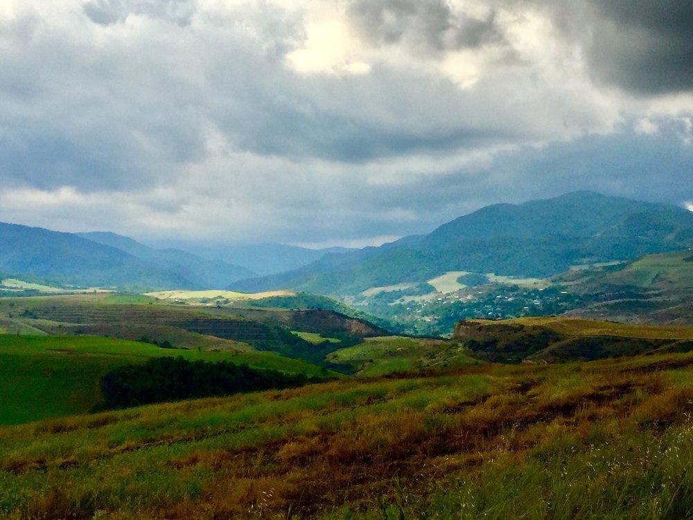 Mountains in the Noyemberyan region of Tavush province