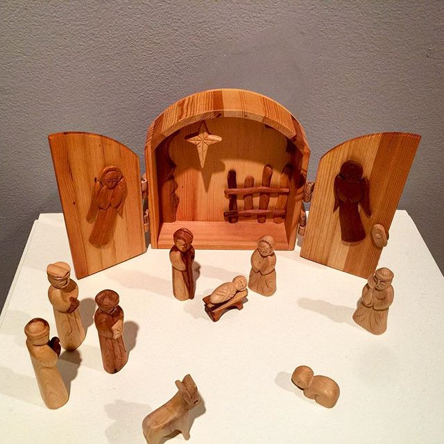 Crèche from Armenia, one of dozens on display at the Loyola University Museum of Art. If you're visiting Chicago, see the holiday show in December.