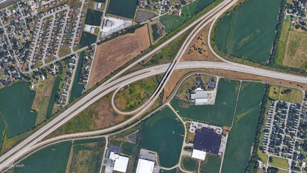interchange at Route 3, Highway 50, and Interstate 255