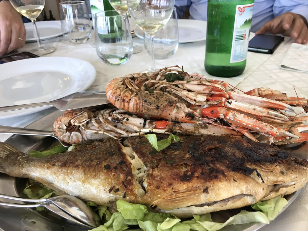 Vittorio's seafood dish