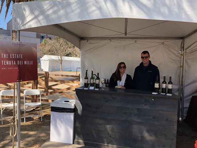 Charleston Wine and Food Festival on Sunday, Taylor, Chris and Anthony were ready for last Sunday's Wine Tasting. #Cheers #event #redwine #whitewine