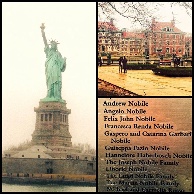 Nostalgia moments of the past, visiting New York City, Statue of Liberty, and Ellis Island. #ancestry, #history, #family