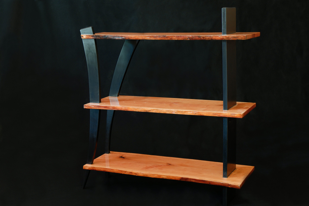 Sweet Cherry and Richlite Shelving Unit