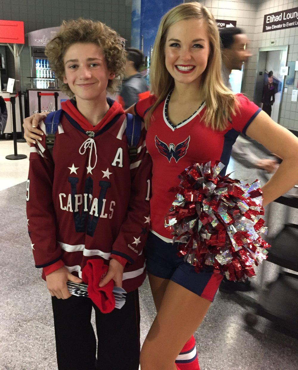 Ethan and I met at a Caps game (of course) in November 2016.