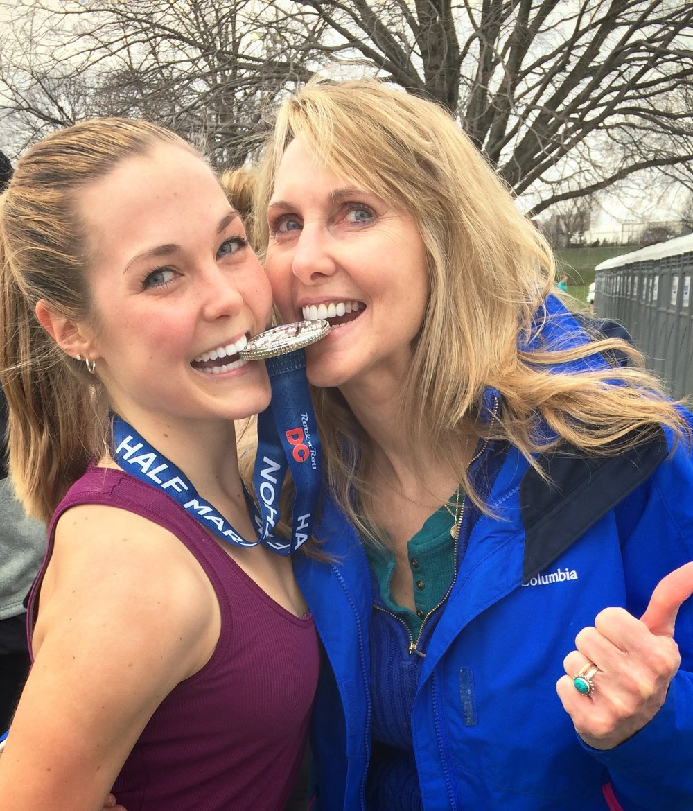 Momma Duck and me after the Rock 'n' Roll DC Half Marathon.