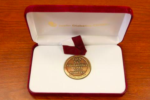 Richard's 50-year Joslin Medalist Award.