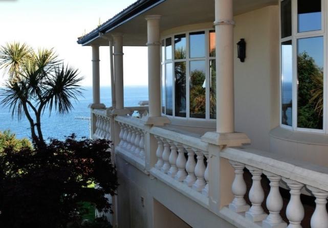 Balcony along north side