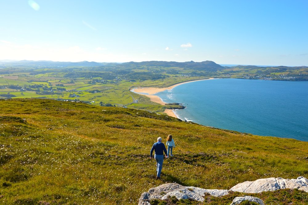 Walking with view of Knockalla.JPG