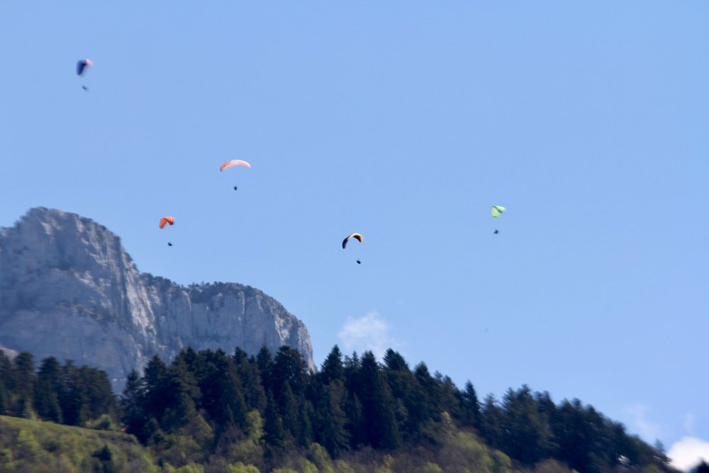 Watch paragliding from back deck