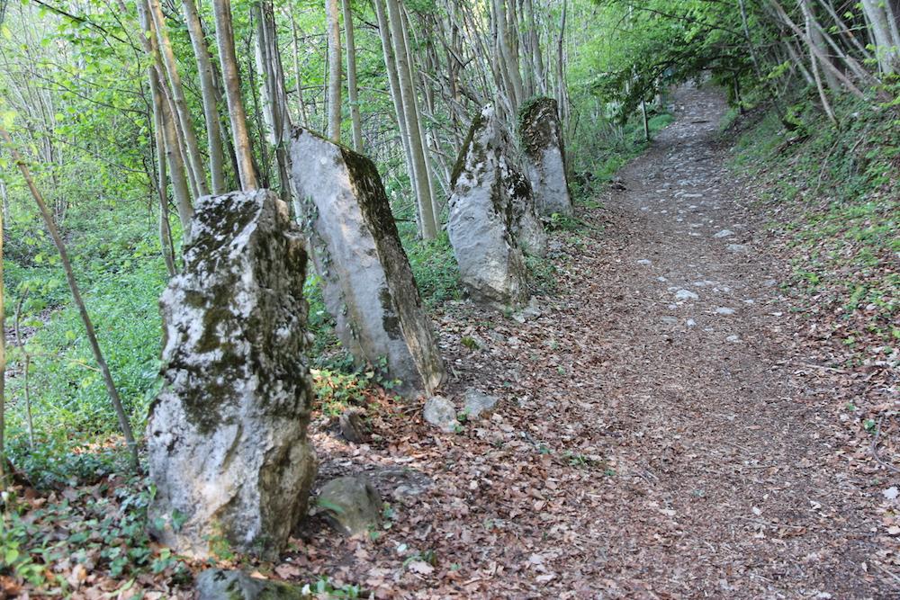 Mountain pathway in Menthon St. Bernard