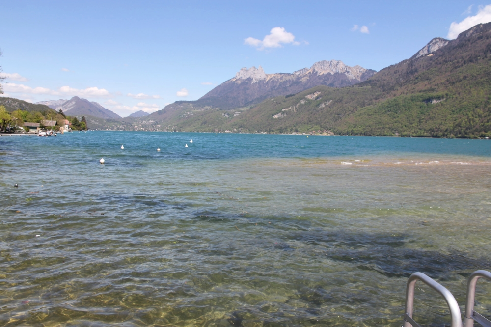 Swimming in Lake Annecy