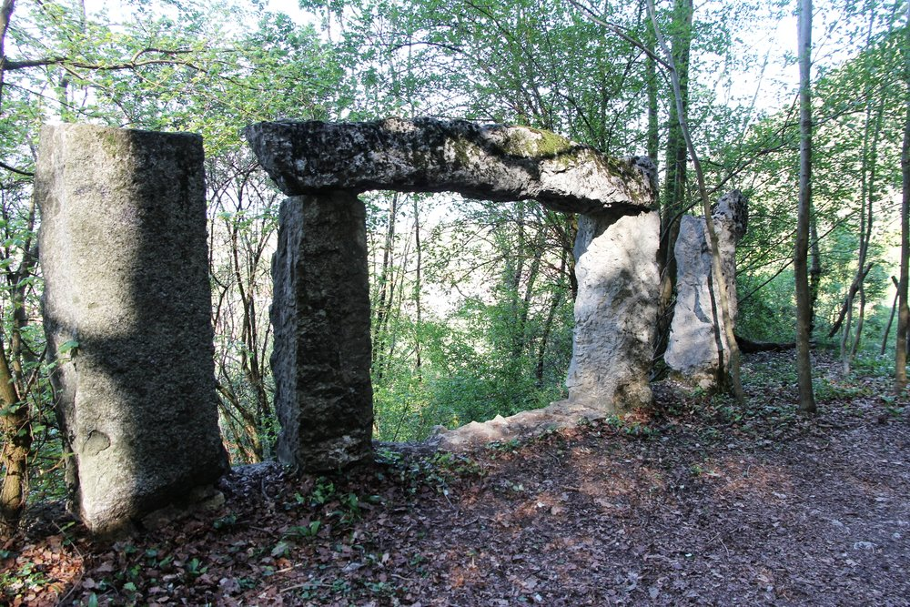 Ancient pathway arch to the chateau