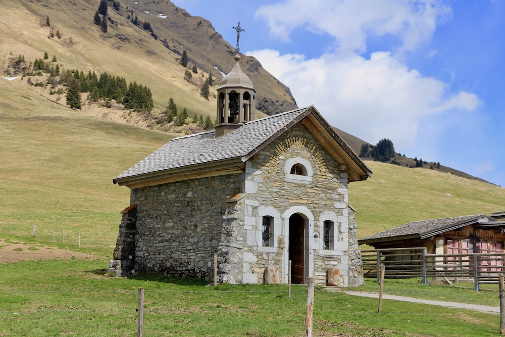 Chapel on the Col des Aravis