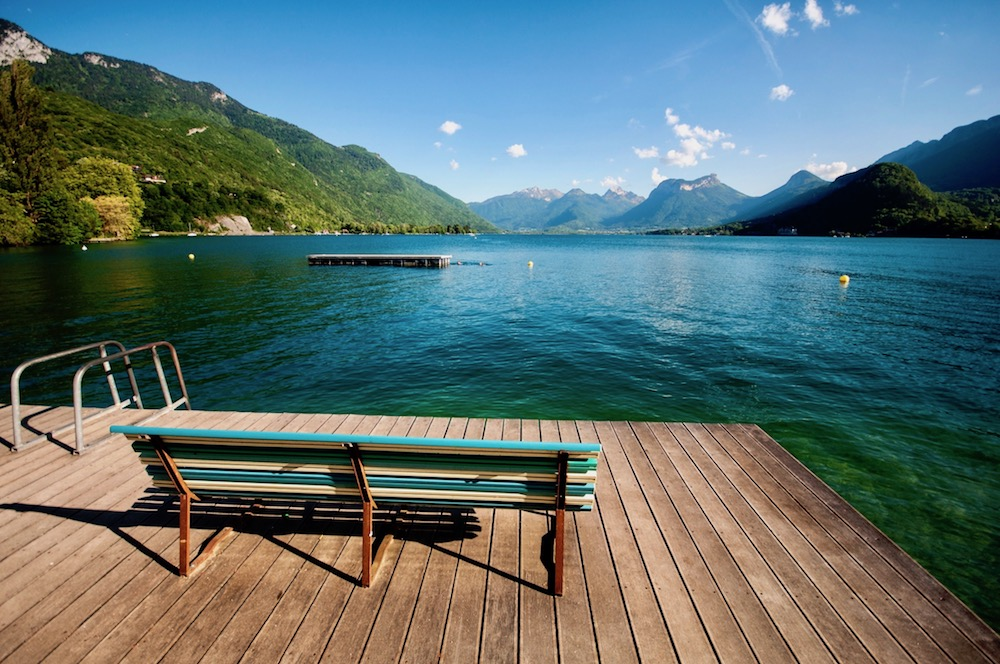 Dock on Lake Annecy