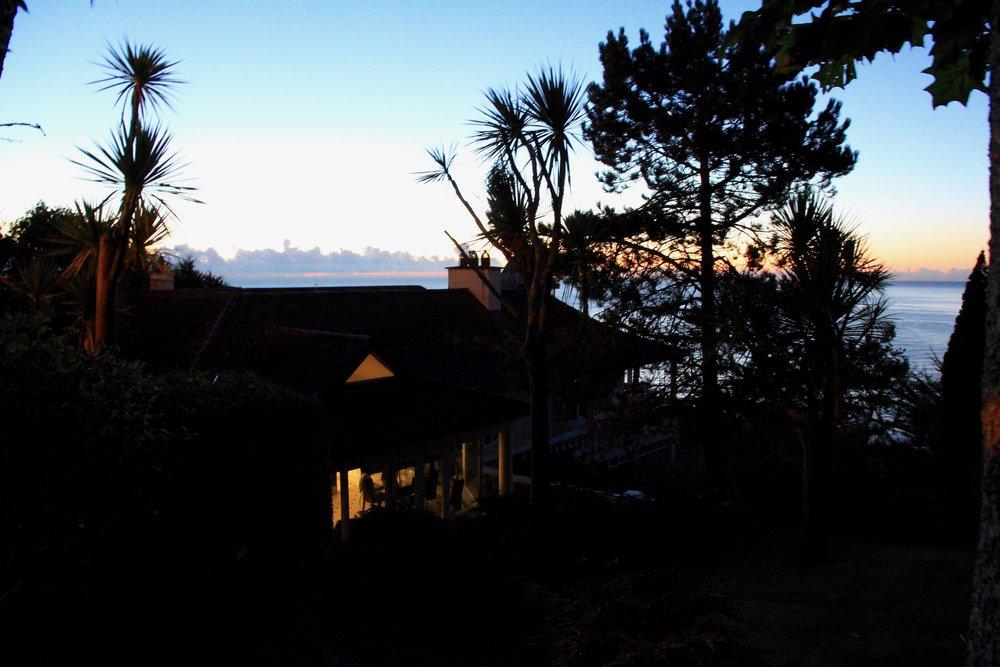 Villa at sunrise