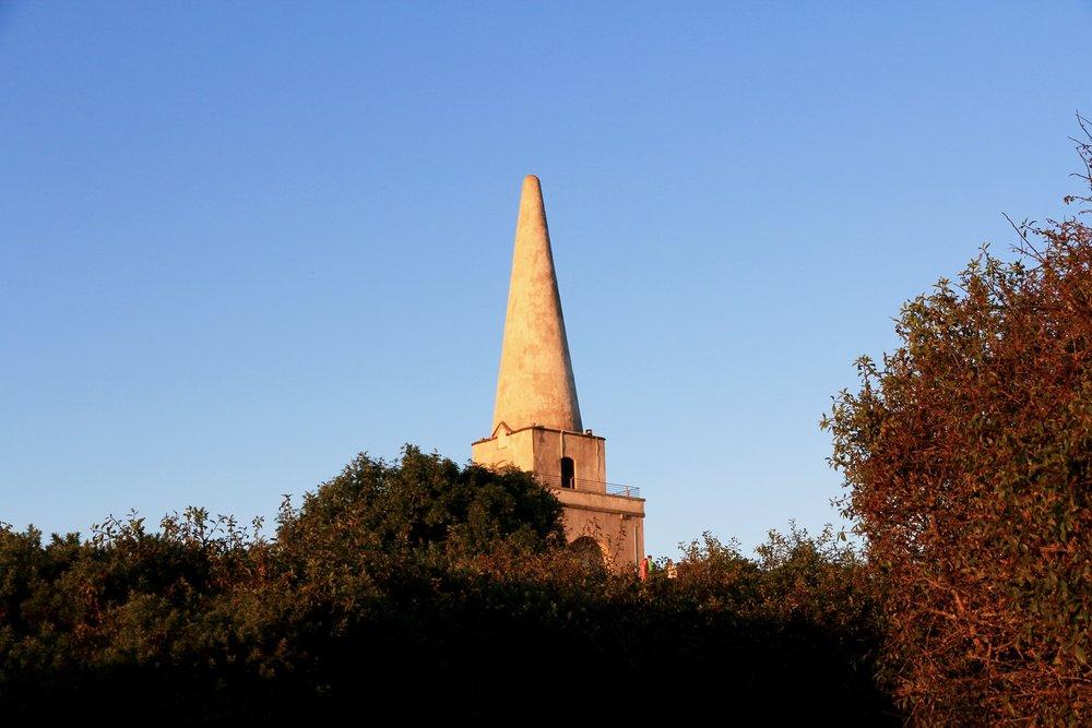 The obelisk on top of Killiney Hill