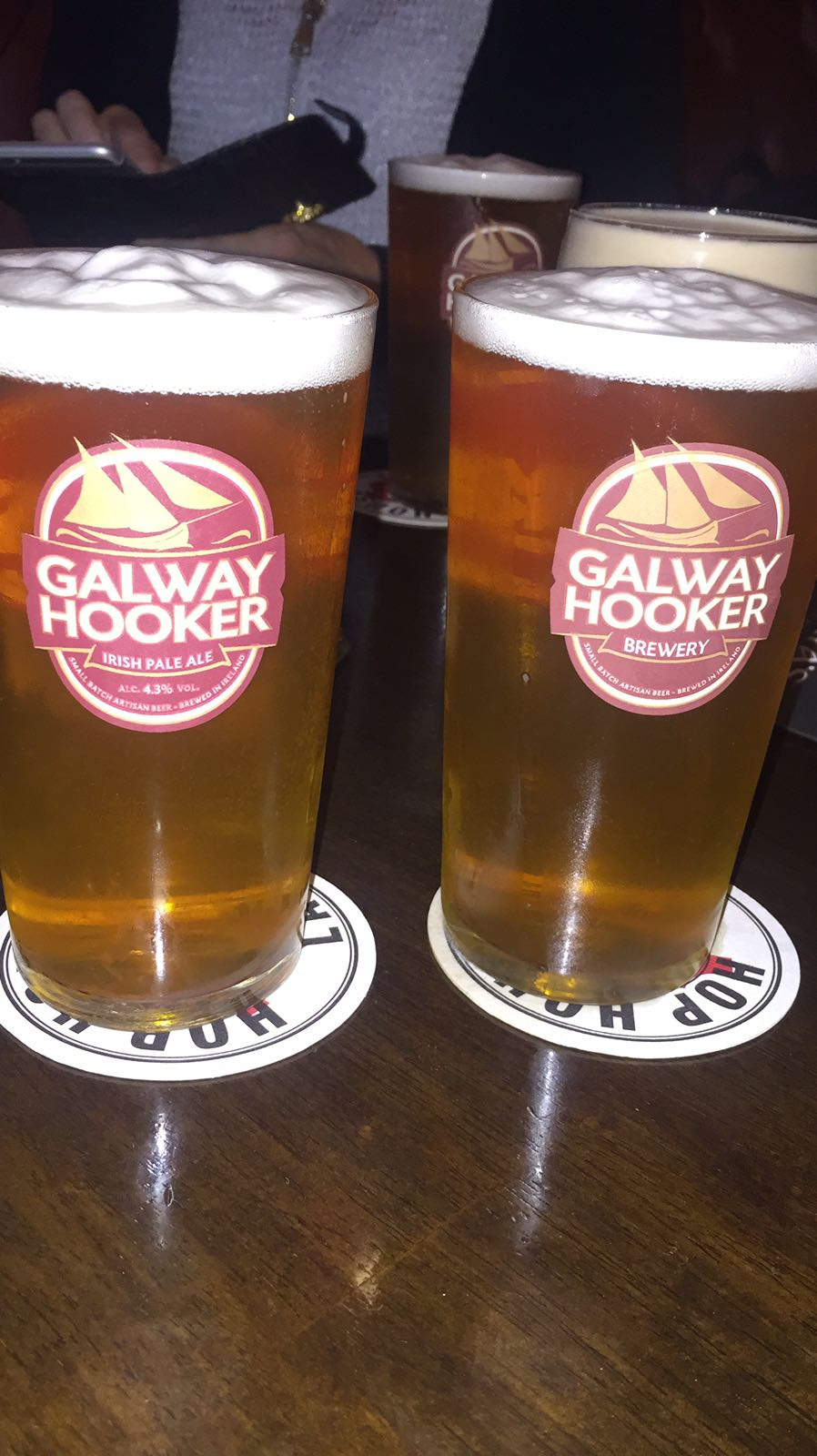At the pub with a craft beer