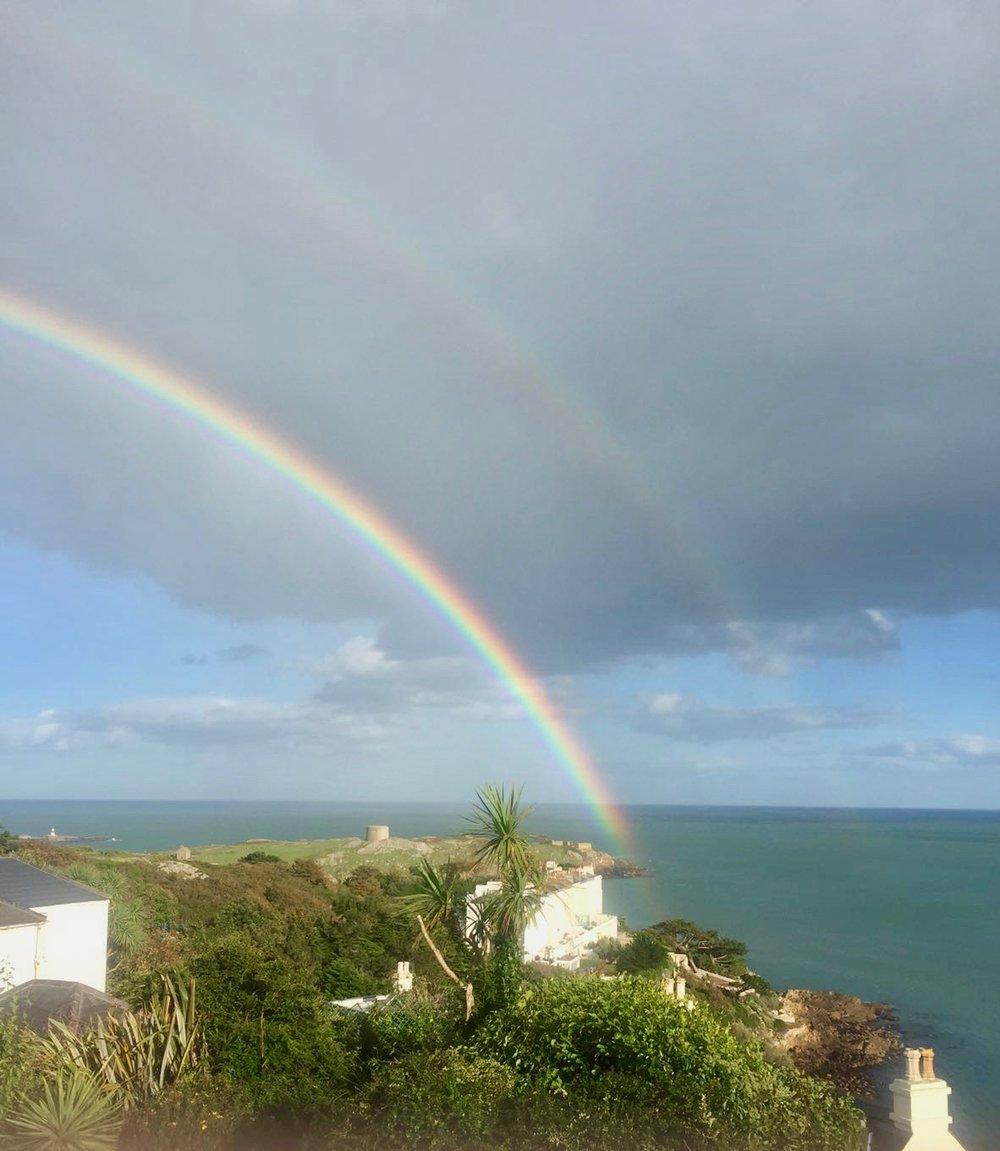 Lucky double rainbow