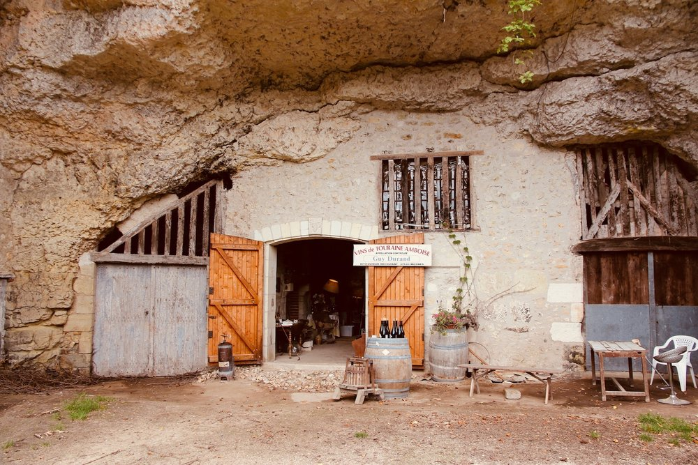 Typical troglodyte cave on the Loire River.
